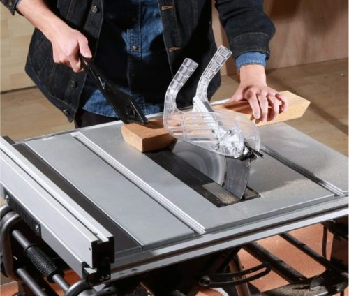 10.TACKLIFE Table Saw 10-inch, 15AMP, 4800RPM Saw with 45° Bevel Cutting, 40 X 20-inch Max Extendable Work Table, Double Metal Tube Base - PTSG1A