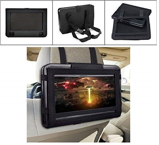 10.UEME-Portable-DVD-CD-Player-with-10.1-Inches-LCD-Screen-Car-Headrest-Mount-Holder-Remote-Control-Car-Charger-Wall-Charger-Personal-DVD-Players-with