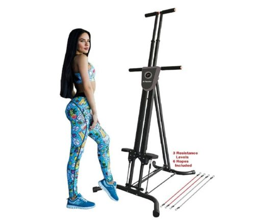 10.X-Factor Vertical Climber Stepper Climbing Stairs Exercise with 3 Resistance Levels and Monitor holds 300 LB