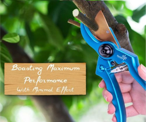 11.Doolini Nature Professional Pruning Shears Bypass Garden Shears,Drop Forged Hand Pruners with Ergonomic Grip & Safety Lock (Metallic Blue)