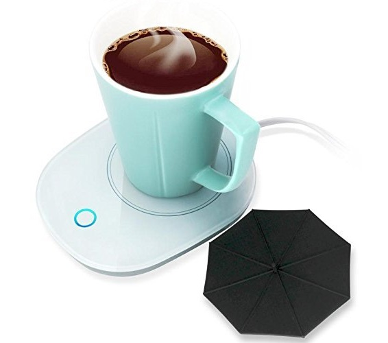 11.Mug Warmer Coffee Warmer with Automatic Shut Off to Keep Temperature Up to 131℉ 55℃ with a Silicone Mug Cover Safely Use for Office Home to Warm Coffee Tea.