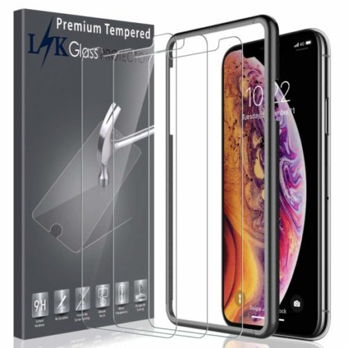 12. Screen Protector for iPhone Xs Max 6.5-Inch Tempered Glass Case Friendly Touch Accurate + Alignment Frame with Lifetime