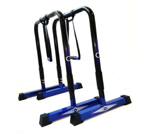 12.CoreX Functional Fitness Parallette Dip Station. Dip Bars (Black)