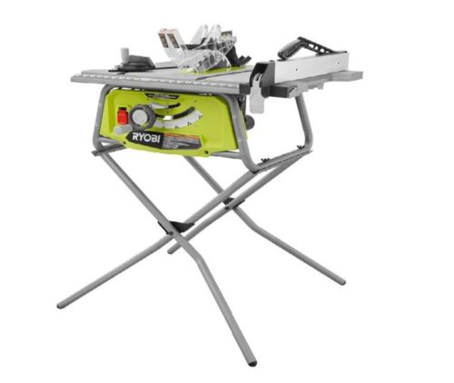 12.Ryobi 10 in. Table Saw with Folding Stand