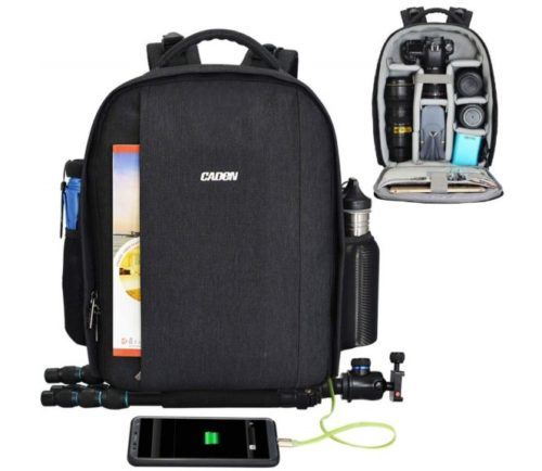 13.CADeN Camera Backpack Professional DSLR Bag with USB Charging Port Rain Cover Photography Laptop Backpack for Women Men Waterproof Camera Case Compatible.