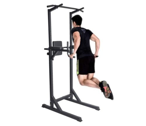 14.Livebest Heavy Duty Fitness Power Tower Multi-Function Strength Training Workout Dip Station Work Out Equipment for Home Gym