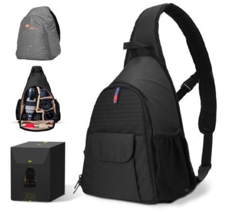 15.DSLR Camera Bag Waterproof Camera Sling Backpack with Rain Cover Outdoor Travel Backpack Camera Bag Case for Laptop Canon Nikon Sony Pentax DSLR Cameras.