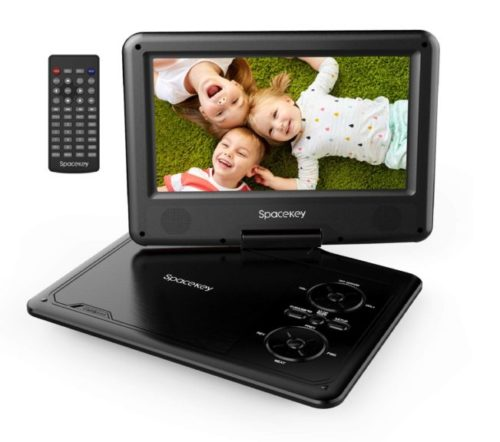 15.Portable-DVD-Player-11.5-with-5-Hours-Rechargeable-Battery-by-SPACEKEY-9-Swivel-Screen-Support-USB-SD-Slot-and-1.8M-Car-Charger-Support-Memory-and.- Best Portable DVD Players