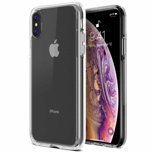 2. Trianium Clarium Case Designed for Apple iPhone Xs MAX Case (2018 6.5 Display ONLY) Reinforced Corner TPU Cushion and Hybrid Rigid Clear Back Plate Protection Covers