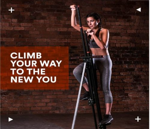 2.MaxiClimber(r) - The Original Patented Vertical Climber, As Seen On TV - Full Body Workout with Bonus Fitness App for iOS and Android