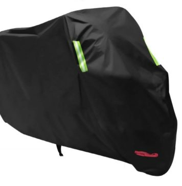 2.Waterproof Motorcycle Cover, All Weather Outdoor Protection, 210D Oxford Durable and Tear Proof for 104 inches XXL Motorcycles like Honda, Yamaha, Suzuki