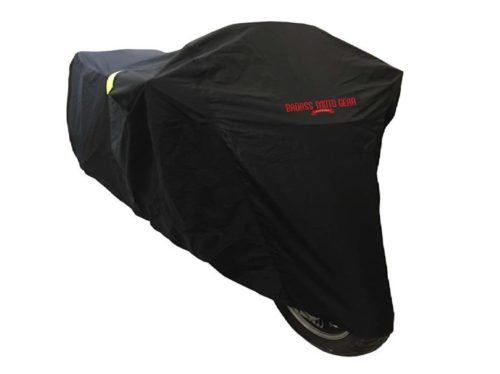 3.Badass Moto Gear All Wx Ultimate Waterproof Motorcycle Cover. Heavy Duty, Night Reflective, Windshield Liner, Heat Shield, Vents, Lock Pockets, Taped Seams.