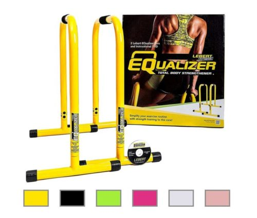 4.Lebert Fitness Equalizer Bars Total Body Strengthener, Yellow