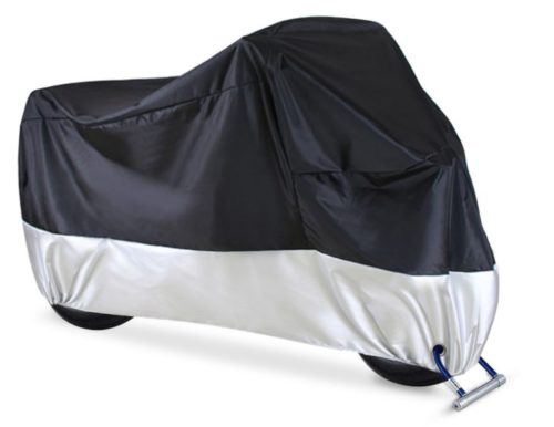 4.Motorcycle Cover, Ohuhu All Season Waterproof Motorbike Covers with Lock Holes, Fits up to 108 Motors, for Honda, Yamaha, Suzuki, Harley (XX Large)