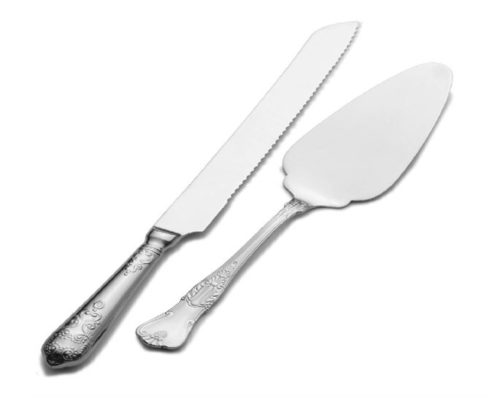 4.Wallace Hotel Pie Server and Cake Knife Set