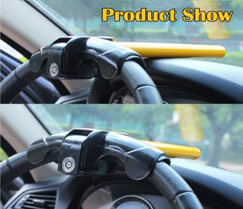 5.EFORCAR 1 PCS Universal Anti-Theft Car Auto Security Rotary Steering Wheel Lock