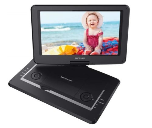 7.DBPOWER-17.5-Portable-DVD-Player-with-14-Large-Swivel-Screen-Rechargeable-Battery-Supports-SD-Card-and-USB-with-1.8M-Car-Charger-and-1.8M-Power-Adaptor