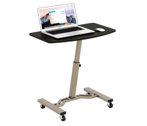 7.SHW Height Adjustable Mobile Laptop Stand Desk Rolling Cart, Height Adjustable from 28' to 33'
