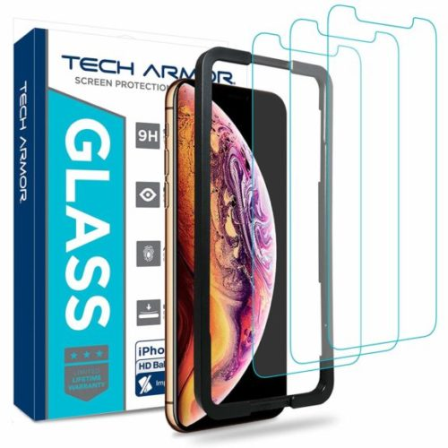 8. Tech Armor Ballistic Glass Screen Protector, Case-Friendly Tempered Glass, 3D Touch Accurate Designed for New 2018 Apple iPhone Xs MA