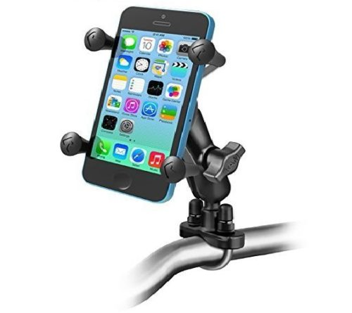 8.Ram-Mounts-RAM-B-149Z-UN7U-Handlebar-Rail-Mount-with-U-Bolt-Base-and-Universal-X-Grip-Cell-Phone-Holder-Zinc-Coated