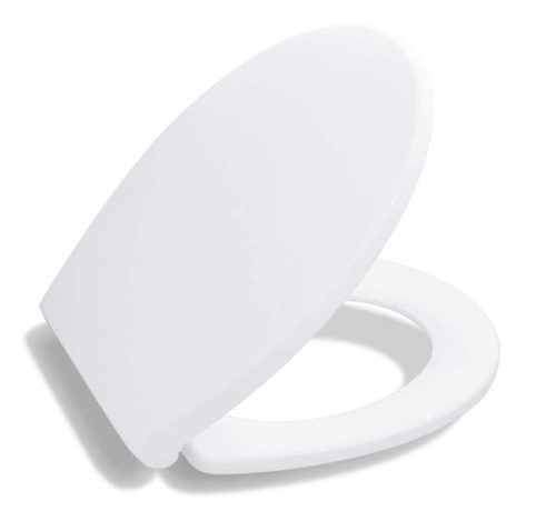 1. Bath Royale BR620-00 Premium Round Toilet Seat with Cover, White, Soft-Close, Quick-Release for Easy Cleaning. Fits All Manufacturers' Round Toilets