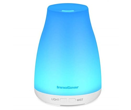 1. - InnoGear Upgraded Version Aromatherapy Essential Oil Diffuser Portable Ultrasonic Diffusers Cool Mist Humidifier with 7 Colors LED Lights and Waterless Auto Shut-off for