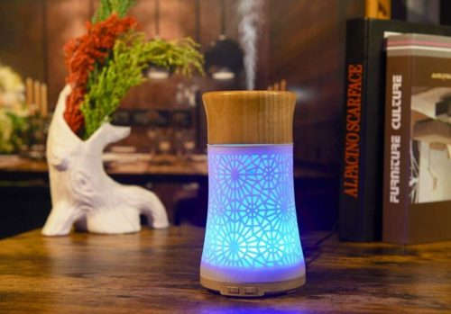 14.Anthun Essential Oil Diffusers,120ml Fragrant Room Sprays Ultrasonic Aroma Mist Atomizer BPA-Free, Waterless Auto-Off, 7 Color LED Lights for Office Home