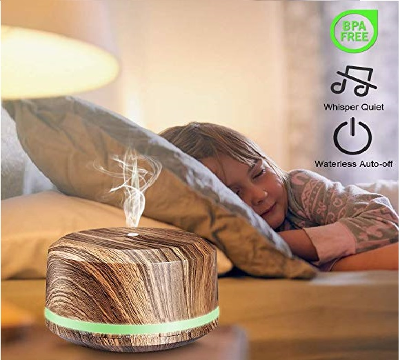 15.Essential Oil Diffuser 450ml, BAXIA TECHNOLOGY Aromatherapy Diffusers for Essential Oils Ultrasonic Humidifiers with Timer, Waterless Auto Shut-off for Large...