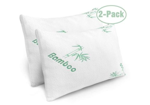 2. lixio Pillows for Sleeping - 2 Pack Cooling Shredded Memory Foam Bed Pillows with Bamboo Hypoallergenic Covers