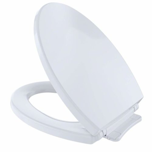 4. Toto SS114 01 SoftClose Elongated Toilet Seat Cover, Cotton White