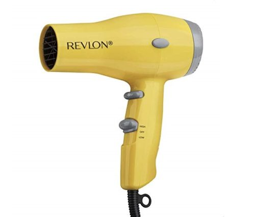 5.Revlon 1875W Compact & Lightweight IONIC Hair Dryer, Yellow