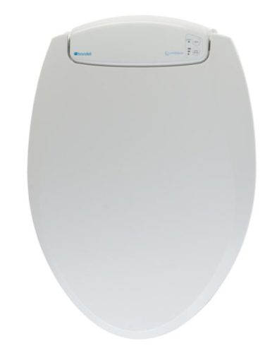 7. Brondell L60-EW LumaWarm Heated Nightlight Elongated Toilet Seat, White