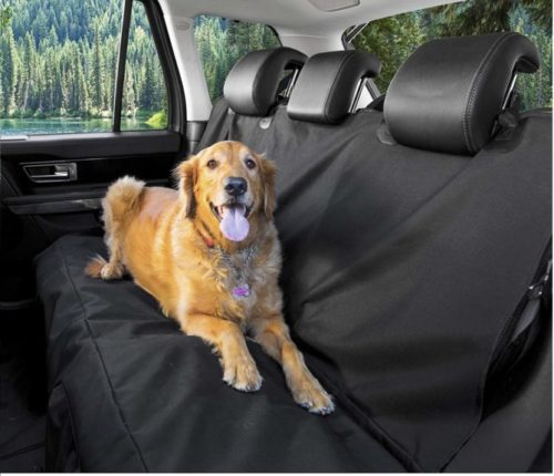 1.BarksBar Original Pet Seat Cover for Cars - Black, WaterProof & Hammock Convertible (Standard, Black)