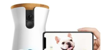 1.Furbo Dog Camera Treat Tossing, Full HD Wifi Pet Camera and 2-Way Audio, Designed for Dogs, Compatible with Alexa (As Seen On Ellen)