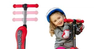 10.2-in-1 Scooter for Kids with Folding Removable Seat Zero Assembling - Adjustable Height Kick Scooter for Toddlers Girls & Boys - Fun Outdoor Toys for.