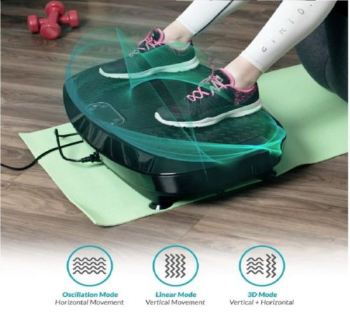 10.Bluefin Fitness Dual Motor 3D Vibration Platform Oscillation, Vibration + 3D Motion Huge Anti-Slip Surface Bluetooth Speakers Ultimate Fat Loss