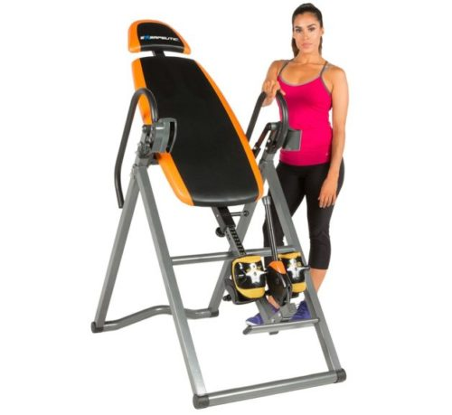 10.Exerpeutic 475SL Inversion Table with AIRSOFT No Pinch Ankle Holders & SURELOCK Safety Ratchet System