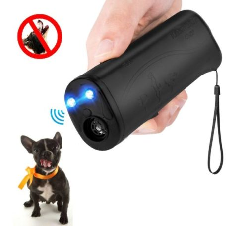 10.MEIREN Improved Handheld Dog Repellent & Trainer, 3 in 1 Ultrasonic Dog Repellent & Anti Barking Device (25 Hertz)