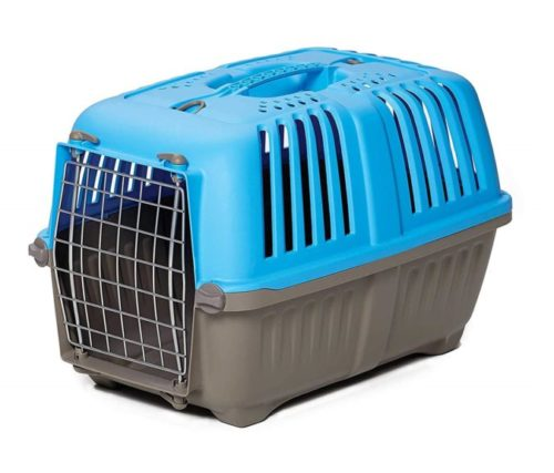 10.Pet Carrier Hard-Sided Dog Carrier, Cat Carrier, Small Animal Carrier in Blue Inside Dims 17.91L x 11.5W x 12H & Suitable for Tiny Dog Breeds
