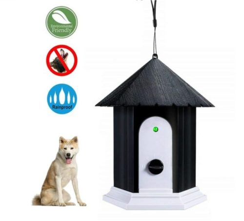 11.HoomDirect Anti Barking Device, Ultrasonic Sonic Bark Deterrents, Dog Training Stopping Barking Tool, Outdoor Waterproof Dog Bark Controller in Birdhouse Shape