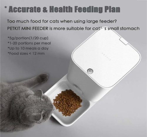 11.PETKIT Automatic Cat Feeder, 2.8 Liter Auto Pet Feeder Dispenser Special for Cat Doggy, Wi-Fi Enabled App for Android, iOS, Timer Programmable, Food Never