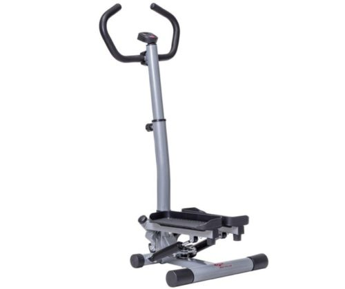 12.GOPLUS Stair Stepper Twister 2 in 1 Step Machine Fitness Exercise Workout with Handle Bar and LCD Display Cardio Trainer Stair Climber