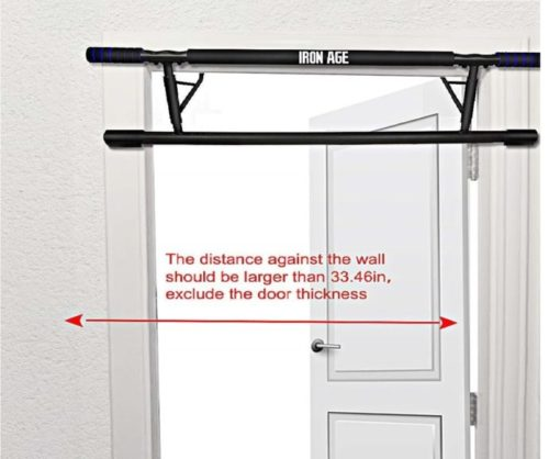 12.Iron Age Pull up Bar Doorway Portable No Crews Zero Assembly Free Standing Wall Mounted Indoor Workouts Smart Hook Technology US Patent Invention