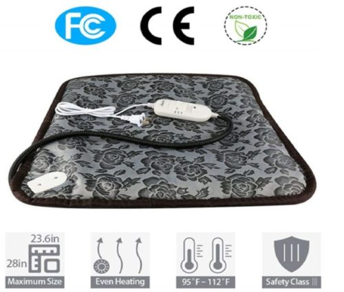 12.zswell Pet Electric Heating Pad for Dogs and Cats Waterproof Adjustable Anti-bite Steel Cord Dog Warm Bed Mat Heated Suitable for Pets Beds Pets Blankets