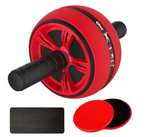 12,LiKee Ab Wheel Roller, Core Training Roller Abdominal Workout Equipment Exercise and Fitness Wheel at Home with Knee Pad for Man Woman Gymnastics Home Gym