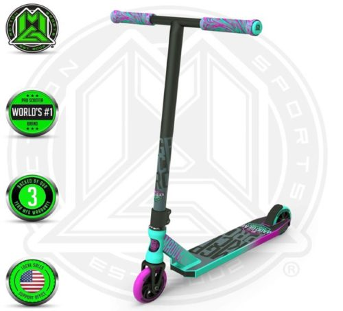 13.Madd Gear MGP Action Sports Kick Pro Scooter (Teal Pink 2019)