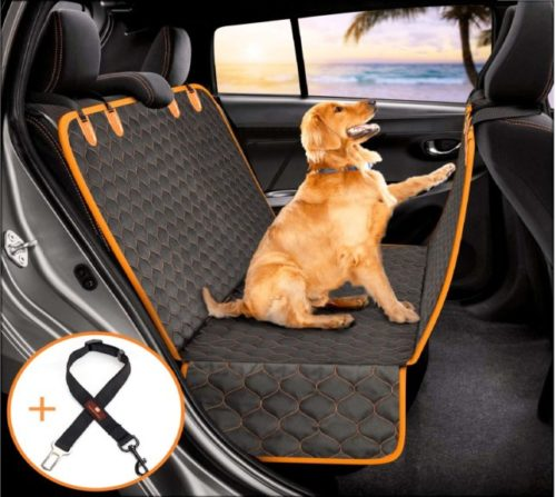 13.Manificent Dog Car Seat Covers, Nonslip Pet Seat Cover, Hammock 600D Heavy Duty Waterproof Scratch Proof Dog Seat Covers Fits Most Cars, Trucks, SUVs (Black