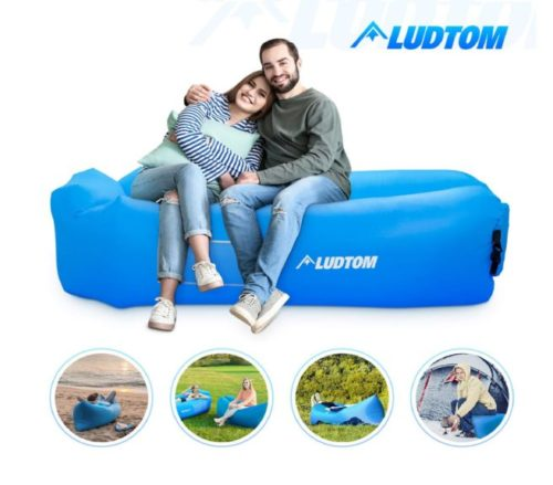 14.Inflatable Lounger Air Sofa Hammock, ludtom Portable Waterproof Anti-Air Leaking Pouch Couch Air Chair Camping Accessories for Traveling, Beach, Picnics