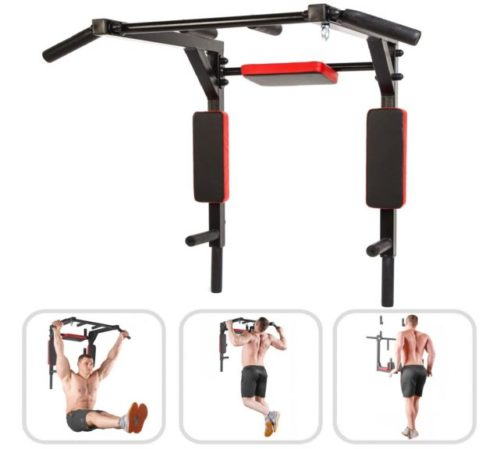 14.Wall Mounted Pull Up Bar - Pullup Bar Wall Mount - Chin Up Bar - Pull Up Bars and Dip Bar - Pullup and Dip Bar - Dip Station Pull Bar - Pullup Bars Outdoor