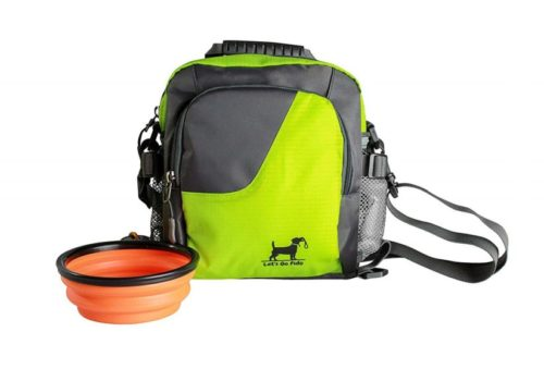 15.Dog Walking Bag with Collapsible Bowl, Converts to Cross Body or Waist Pack. Perfect for Travel, Dog Parks, Hiking, Training, Camping, Beach. Great Gift for
